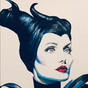 "Angelina Jolie "" THE MALEFICENT "" my son's Art"